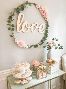 Chá de lingerie romântico