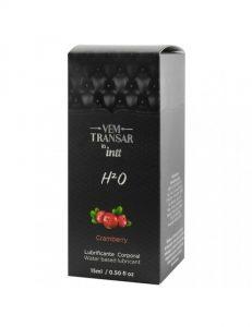 Gel Lubrificante Íntimo H20 Vem Transar - Cranberry 15ml