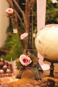 Decoração de Chá de Lingerie - Tema Viagem Paris