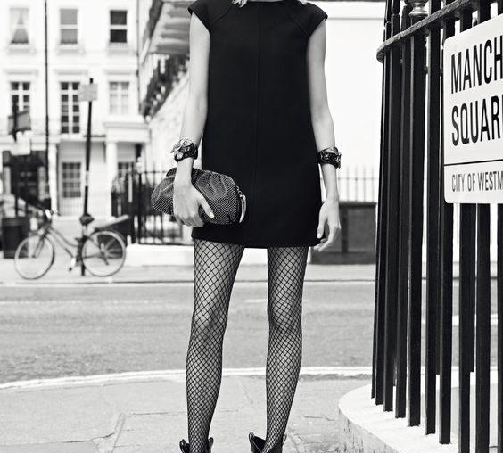 Meia calça no verão modelo arrastão