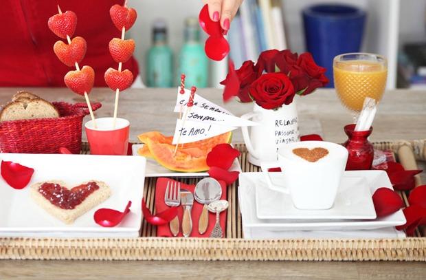 Decoração romântica: café da manhã a dois