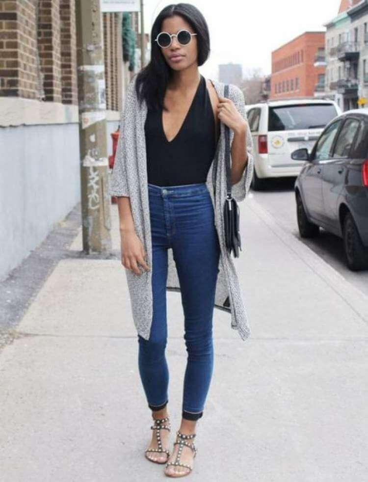 Como usar maiô como body - look com calça jeans