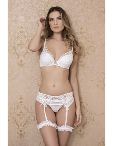 Conjunto de lingerie branco para noite de núpcias