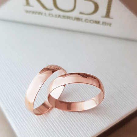 Aliança de casamento - ouro rose