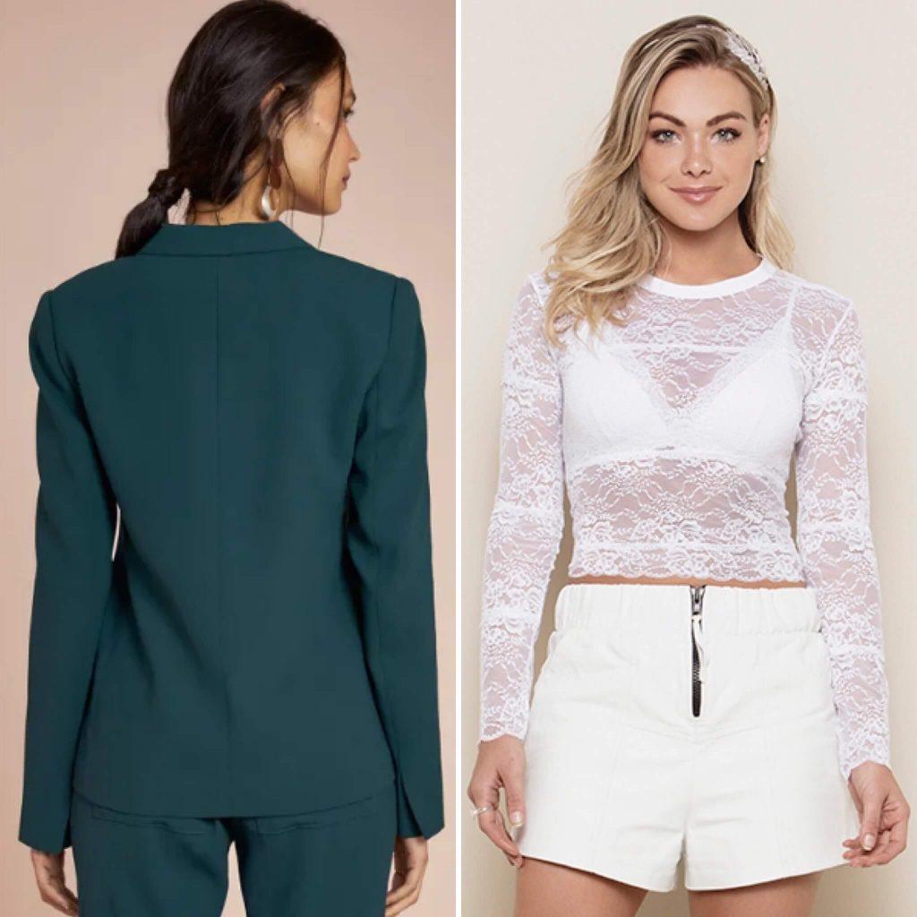 Usar lingerie com blazer colorido