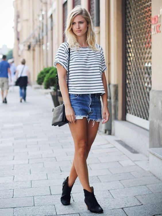 Botas texanas: short jeans