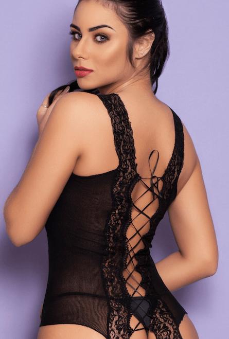 lingerie sensual com amarração nas costas