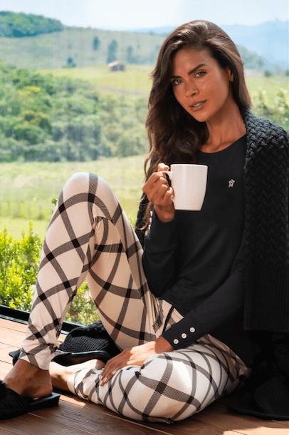 Calça de pijama legging