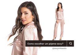 escolha um pijama sensual para o inverno